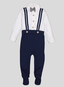 Blue Suit-Style All In One (Newborn -12 Months)