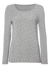 Star Print Heat Active Thermal T-Shirt