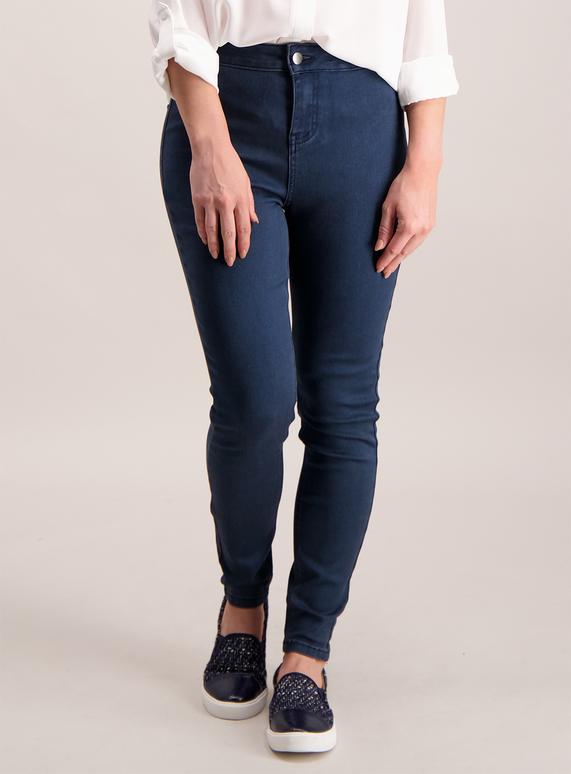 PETITE Dark Denim High Waist Skinny Jeans