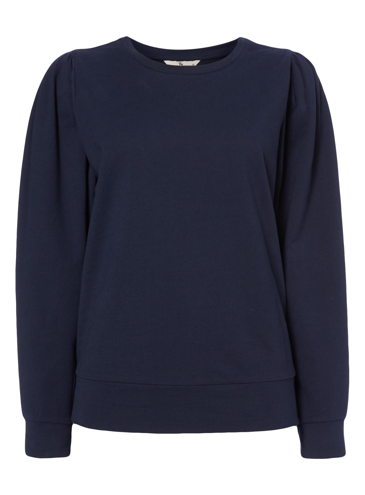 Womens Navy Balloon Sleeve Sweater | Tu clothing