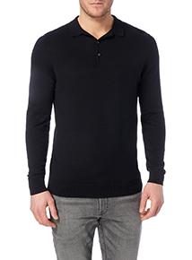 Black Long Sleeve Polo