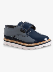 Navy Faux Patent Velcro Shoes (Infant 10 to 4 Child)
