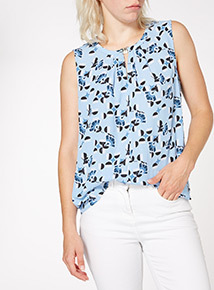 Multicoloured Printed Layering Shell Top