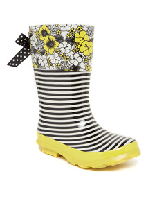 Floral Stripe Print Welly (6 Infant - 4)