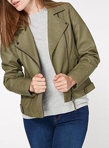 Green Linea Quilt Jacket