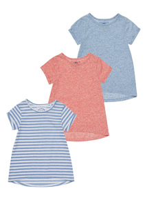 Multicoloured Beach Comber T-Shirts 3 Pack (3-12 years)