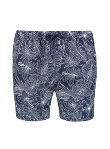 Navy Blue Large Floral Board Shorts