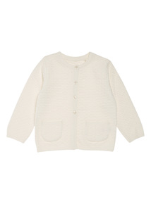 Cream Textured Cardigan (Newborn-12 months)