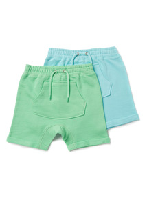 2 Pack Multicoloured Harem Shorts (9 months-6 years)