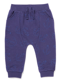 Navy Anchor Joggers (0-24 months)