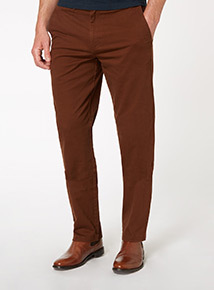 Red Brown Straight Chino Trouser