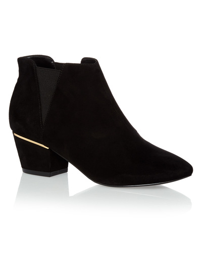 Black Hardware Ankle Boots