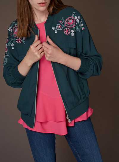 Premium Embroidered Bomber Jacket
