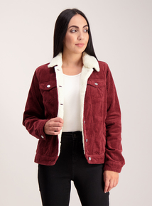 Dark Red Cord Jacket