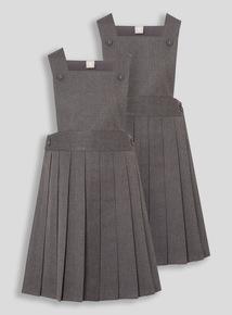 Girls Grey Tabard Pinafore (2-12 years)
