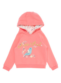 Girls Pink Spring Bird Hoody (9 months-6 years)