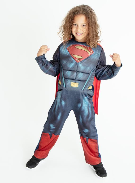 9b53f5d081 Fancy Dress Superman Blue Costume (3-10 years)