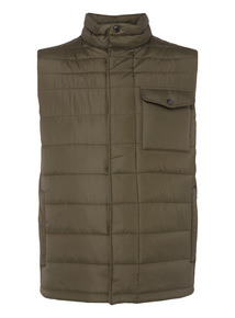 Khaki Quilted Gilet
