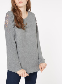 Long Sleeve Shoulder Detail Top