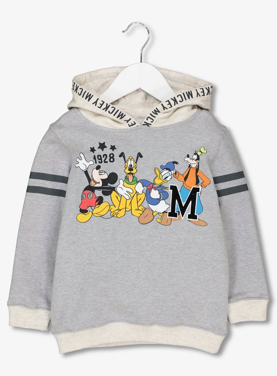 4dea4ade0add Kids Disney Mickey Mouse   Friends Grey Hoodie (1-6 Years)