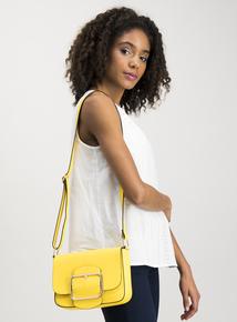 Yellow Buckle Cross Body Bag