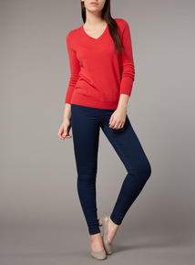 Premium Red Cashmere Silk Jumper