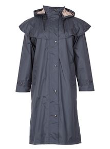 DAVID BARRY Navy Waterproof Storm Flap Coat
