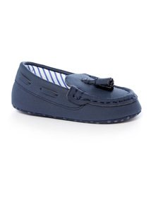 Navy Loafer Boat Shoes (0-24 months)