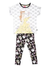 Black Disney Belle Two Piece Pyjama Set (1.5-10 years)