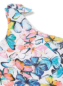 Multicoloured Butterfly Jersey Playsuit (3-14 years)