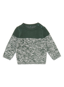 Boys Green Textured Knit Jumper (0-24 months)
