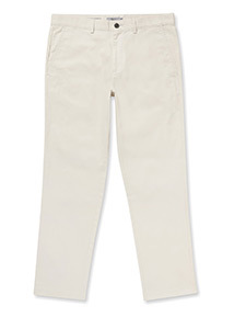 Online Exclusive Beige Straight FIt Chinos With Stretch