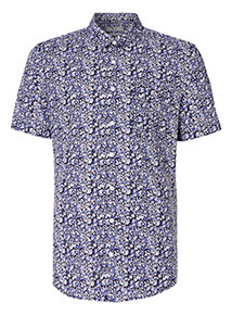 Ditsy Floral Print Slim Fit Shirt