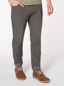 Online Exclusive Grey Denim Wash Slim Jeans With Stretch