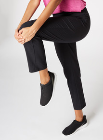PETITE Online Exclusive Black Roll Top Joggers