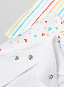 3 Pack Multicoloured Printed Hanky Bibs