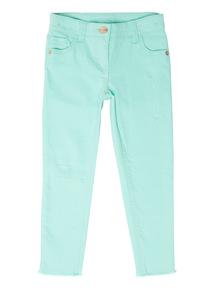 Girls Green Rip And Repair Skinny Jeans (3 - 14 years)