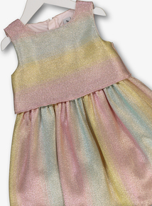 20678dce913 Multicoloured Rainbow Sparkle Occasion Dress (9 months- 6 years)