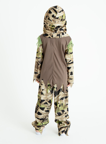 Halloween Swamp Zombie Costume with Mask (3-12 years)