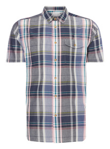 Navy Check Voile Shirt