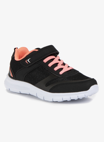 Black & Pink Sparkle Trainers (Infant 6 - Child 4)
