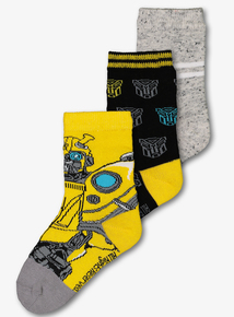 Transformers Bumblebee Socks 3 Pack (6 Infant - 6.5 Adult)