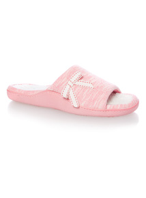 Pink Cupsole Jersey Slippers