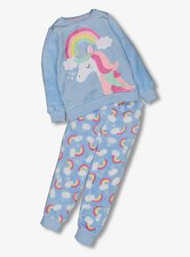 Blue Unicorn Fleece Pyjama Set (1-12 years)