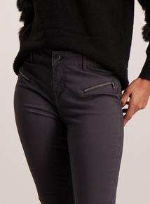 Grey Zip Pocket Trousers