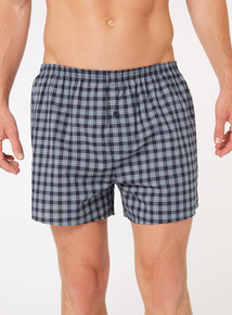 3 Pack Navy Checked Boxers
