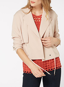Cropped Drapey Jacket