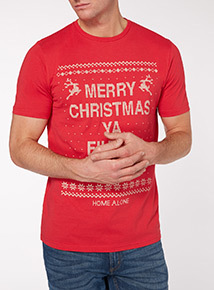 Red Christmas Home Alone Tee