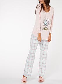 Snoopy Jersey Plaid Gift Pyjama Set