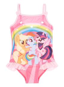 Girls Multicoloured My Little Pony Swimsuit (1 - 8 years)